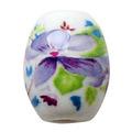 陶器ビーズ 大 紫の花