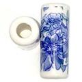 陶器ビーズ 筒型青花 2個入