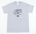 ハードツアイス Tシャツ -VX1000xGILDAN- グレー