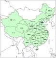 白地図-中華人民共和国