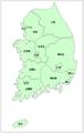 白地図-韓国