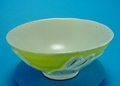 有田焼 4.0飯碗 線盛うさぎ (黄) 國右ェ門窯