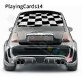 グラフィック デカール ステッカー 車体用 / フィアット 500 2020 / リアウィンドウ トランプデカール