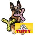 大型犬用 丈夫なおもちゃ タフィーズ アルティメイト ブーメラン ピンク/イエロー トラのおもちゃ