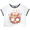 Fire Mexican Skull Ringer T-Shirts