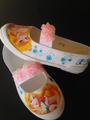 プリンセス オーロラ姫 熱転写 上靴 上履き 上靴デコ デコ上履き デコ上靴 上履きデコ 15cm 15・5cm 16cm 16・5cm 17cm 17・5cm  18cm 18・5cm 19cm 19・5cm 20cm