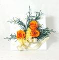 立て掛けタイプ クリスマスアレンジ オレンジ