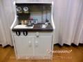 シャビーな木製ままごとキッチン*Pianissimo-スリムサイズ*/アンティーク調/基本タイプ