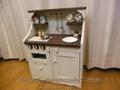 ままごとキッチン*Sweet Cafe-ミドルサイズ*/オーブン・引き出し付き/調理台の高さ:50㎝/オプション3点付き/木製アンティーク調