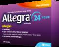 アレグラ/ Allegra 抗アレルギー薬 24時間 18錠