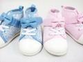 baby女児デニムレース子供靴ハイカットシューズ