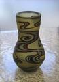 つゆ型3色花瓶(アンバー・青・紫)  流水模様