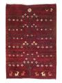 ギャベ「ピクニック」ペルシャ手織絨毯(8705978)