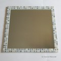 H様オーダー品 ガラスモザイクタイルの大型ミラー ブルーMix