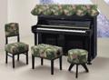 【送料無料】アップライトピアノ用トップカバーTG-56(緑・花柄)
