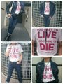 JOE ALCOHOL TOO FAST TO LIVE TOO YOUNG TO DIE T-Shits REDロゴ
