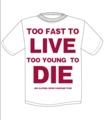 【SALE】JOE ALCOHOL TOO FAST TO LIVE TOO YOUNG TO DIE T-Shits REDロゴ