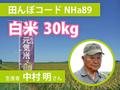 生きもの元気米(減農薬)・田んぼNHa89の白米30kg コシヒカリ