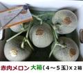赤肉メロン 大箱X2箱【お徳用】(ラベンダー付)