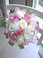 生花プリかわピンクのキューティーラウンド&ブートニア