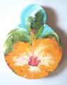 ミニアートボード(オレンジハイビスカス)