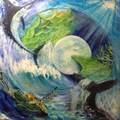 『海のファンタジー』油絵