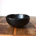 拭き漆4.5寸欅古び丸鉢