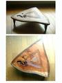 欅の三角テーブル