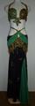 エジプシャン衣装(ブラック×グリーン金)FLW-E08