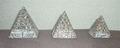 ピラミッド(3個セット)石製
