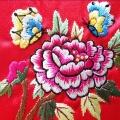 韓国刺繍パーツ(牡丹と蝶)