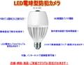 電球型LED防犯カメラ