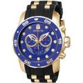 [インビクタ]Invicta 腕時計 Pro Diver メンズ 石英 48mm ケース ゴールド ブラック ステンレススチール ポリウレタンストラップ 青ダイヤル 6983 メンズ 【正規輸入品】