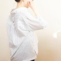 ・stripe shirt W/B