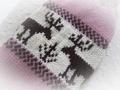 カウチン風手編みセーター ストロベリーチョコ