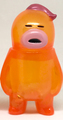 アレの見守りソフビ人形【Clear Orange】Pink