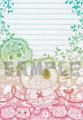 【委託品】アイルー 3色グラデーション便箋(にぎやか)(清谷はるか様)