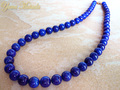 【特選品】アフガニスタン産高級「ラピスラズリ数珠ネックレス」