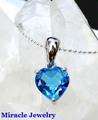引き込まれるような深海のブルー!宝石質【ロンドンブルートパーズ、ラブリーハートペンダント】