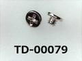(TD-00079) 鉄16A  ヤキ #0-2ナベ + M1.4×1.2 銅下ニッケル