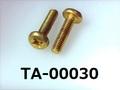 (TA-00030)  真鍮 バインド + M3×12 生地