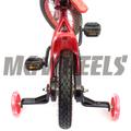 ホイールカラーが可愛い「ベアリング入カラーゴムホイール子供用自転車補助輪」