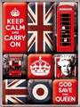 【Keep Calm and Carry On】英国柄 マグネット9ピースセット