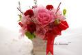 ピンク&赤薔薇のエレガント