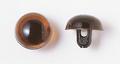 9mm  プラスチックアイ クリスタルカラー  クリスタルブラウン