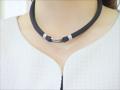 健康ネックレス 首用布製・脱着器付 (黒)