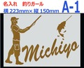 Fishing 釣り カッティングステッカー名入れします◆釣りガール金・銀