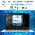 LHMZNIY-S3m 15.6インチFHDスクリーンメタルシェルIntel Core I7-4500U CPU 16GRAM 256GSSD&1THDDラップトップコンピューターゲームオフィスワーク