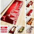 「クリスマスイベント」3Dプリントクリスマスマット/ノンスリップクリエイティブメリークリスマス玄関マット/カーペット/フロアマット/寝室ラグホームデコレーション