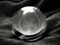ハイグレード天然水晶(A+)丸玉30mm(台座付)
